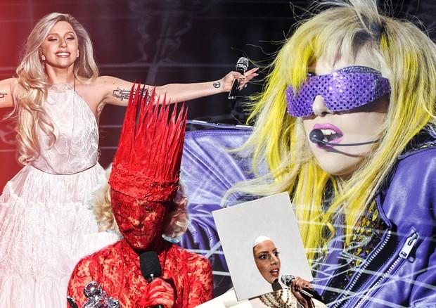 Lady Gaga em algumas de suas várias facetas (Foto: Getty Images)