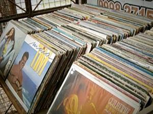 Discos de vinil (Foto: reprodução GloboNews)