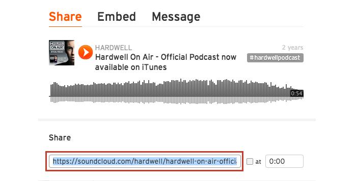 Copie o link do Soundcloud (Foto: Reprodução/Paulo Alves)