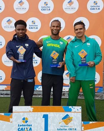 Edson bate recorde no Super Desafio do Open Paralímpico em SP e garante vaga no Mundial de Atletismo Paralímpico (Foto: Edson Cavalcante /arquivo pessoal)