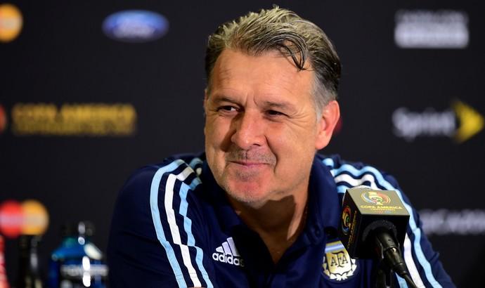 Tata Martino coletiva da Argentina (Foto: AFP)