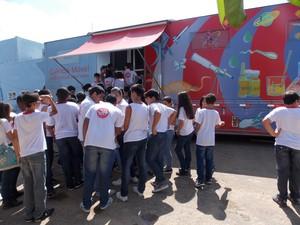 Caminhão está na Estrada Silveira da Motta, s/n (Foto: Diculgação/Fiocruz)