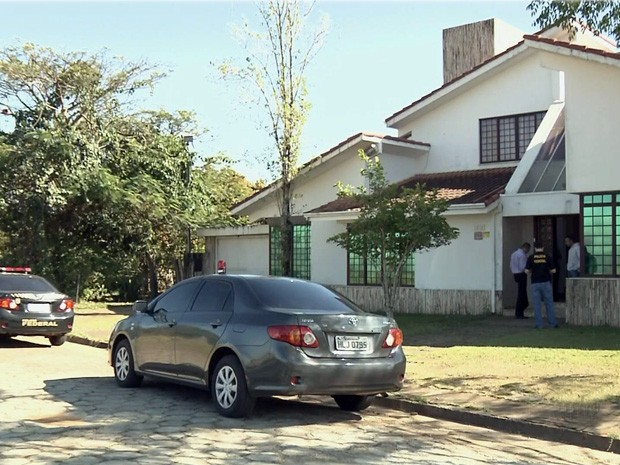 Operação da Polícia Federal bloqueou imóveis em Pouso Alegre e Poços de Caldas que pertenceriam à seita religiosa (Foto: Reprodução EPTV)