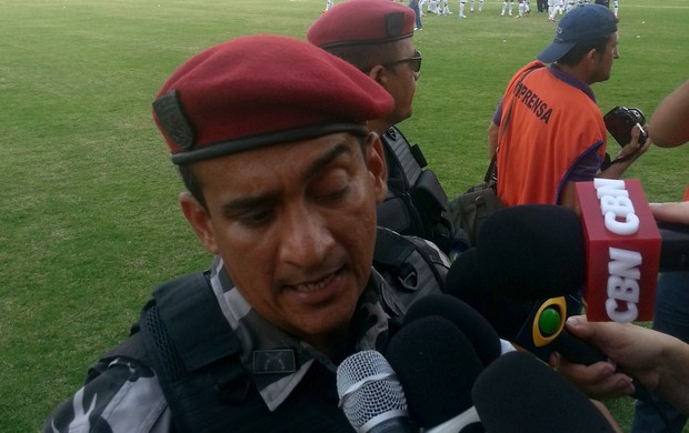 Capitão Albuquerque tumulto ABC x Palmeiras (Foto: Marcelo Hazan)