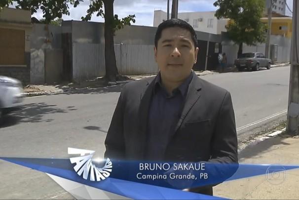 Bruno Sakaue no Fantástico (Foto: Reprodução/TV Globo)