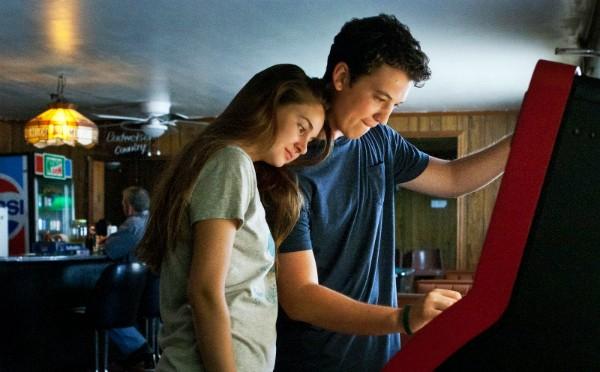 Shailene Woodley e Miles Teller se beijaram bastante em 'O Maravilhoso Agora' (2013) (Foto: Divulgação)