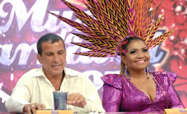 Gaby Amarantos no Caldeirão do Huck (Foto: TV Globo/Rafael Sorín)