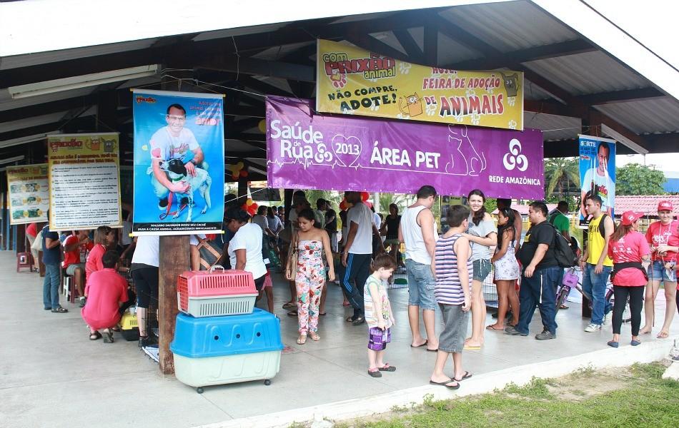 'Área Pet' foi uma das novidades da terceira edição do evento (Foto: Katiúscia Monteiro/ G1 AM)