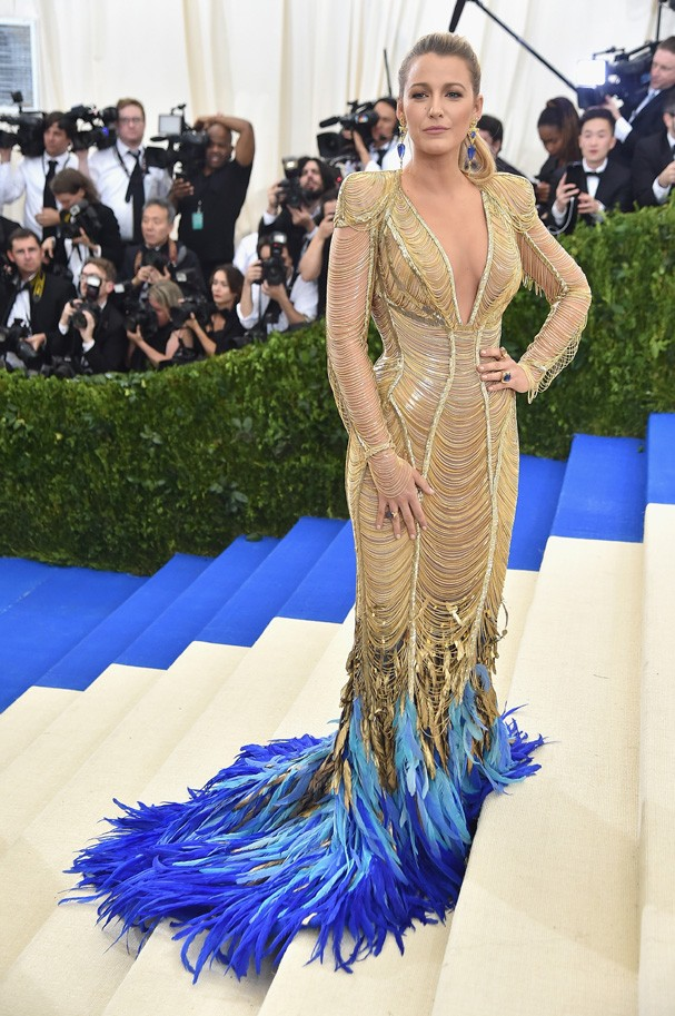"""NEW YORK, NY - MAY 01:  Blake Lively attends the """"Rei Kawakubo/Comme des Garcons: Art Of The In-Between"""" Costume Institute Gala at Metropolitan Museum of Art on May 1, 2017 in New York City.  (Photo by Theo Wargo/Getty Images For US Weekly) (Foto: Getty Images For US Weekly)"""