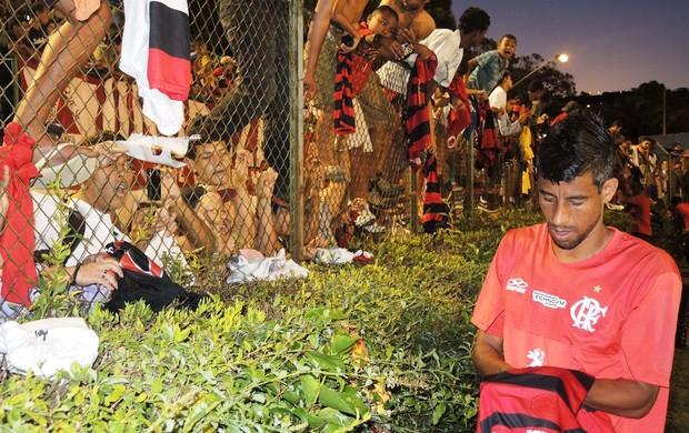 Leo Moura treino Flamengo (Foto: Cahê Mota)