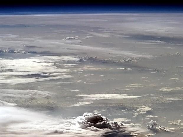 Formação de tempestade (Foto: Chris Hadfield/Nasa)