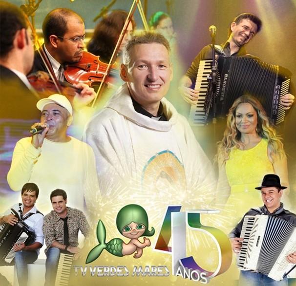 TV Verdes Mares comemora 45 anos com linda festa. (Foto: Divulgação)