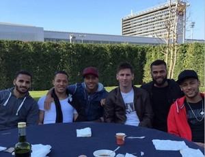 Almoço Barcelona, Messi, Neymar e Daniel Alves