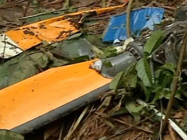 Helicóptero caiu em área de mata fechada no nordeste do Pará. (Foto: Reprodução/TV Liberal)