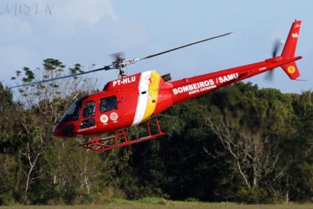 Helicóptero Corpo de Bombeiros de Rondônia (Foto: Assessoria/Secom)