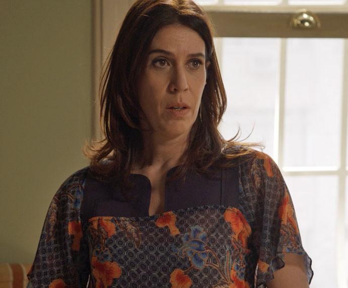 Karen diz para Luís Fernando que acabou (Foto: TV Globo)