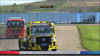 Vencedor da Copa Truck em Caruaru, Felipe Giafone participa do Giro SporTV