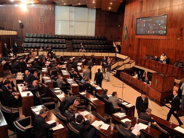 Assembleia Legislativa votação aumento de impostos RS (Foto: Mariana Carlesso/Agência ALRS)