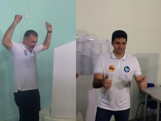 Candidatos Cícero Almeida e Rui Palmeira vão disputar a prefeitura de Maceió no segundo turno (Foto: Carolina Sanches/G1)