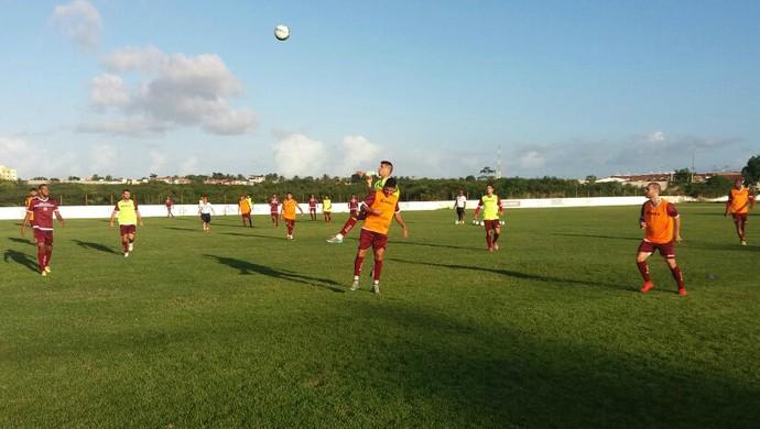 América-RN - jogadores treino CT Abílio Medeiros (Foto: Canindé Pereira/Divulgação)