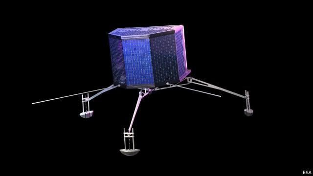 Nave espacial Rosetta deverá viajar até o cometa para depositar a sonda (Foto: BBC)