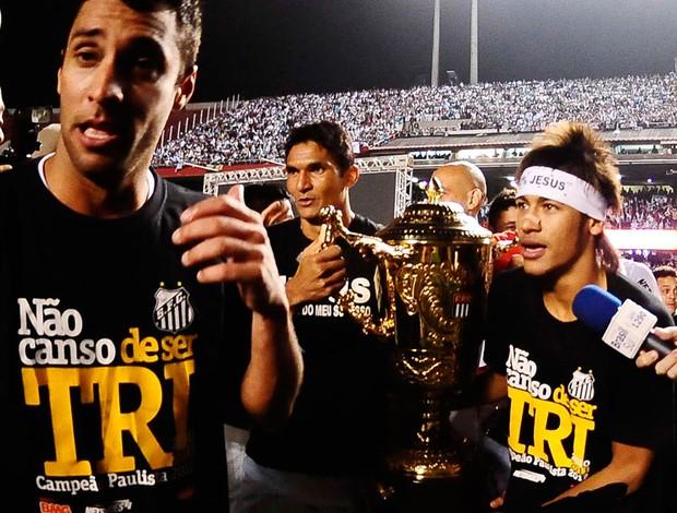 ibson durval neymar taça campeão paulista (Foto: Marcos Ribolli / Globoesporte.com)