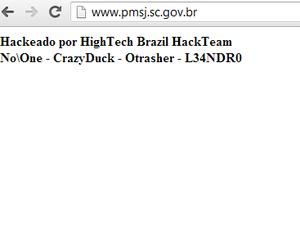Prefeitura não soube informar desde quando a página está fora do ar (Foto: Reprodução/Site PMSJ)