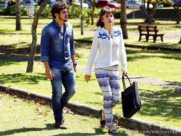 Caio Castro e Maria Casadevall (Foto: Amor à Vida / TV Globo)