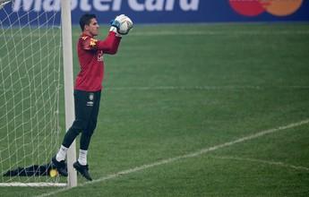"""Marcelo Grohe comemora reencontro com o """"vizinho"""" Alisson na Seleção"""