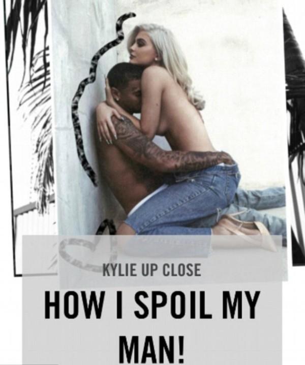 Uma imagem da publicação polêmica do site de Kylie Jenner (Foto: Reprodução)