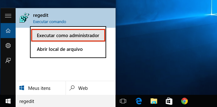 Executando o registro do Windows (Foto: Reprodução/Edivaldo Brito)