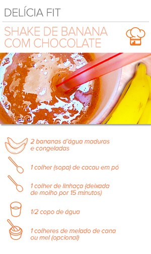 EuAtleta Arte Info receita Shake Banana (Foto: Eu Atleta | Arte Info)