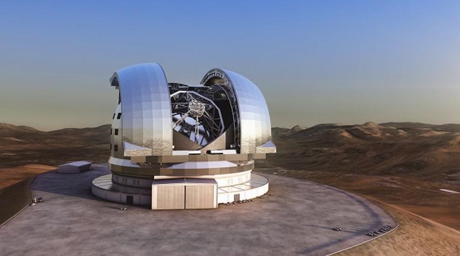 ELT: permitirá que os astrônomos observem objetos distantes do Universo com uma precisão que nunca foi alcançada por nenhum outro instrumento óptico, na Terra ou no espaço (Foto: Divulgação)