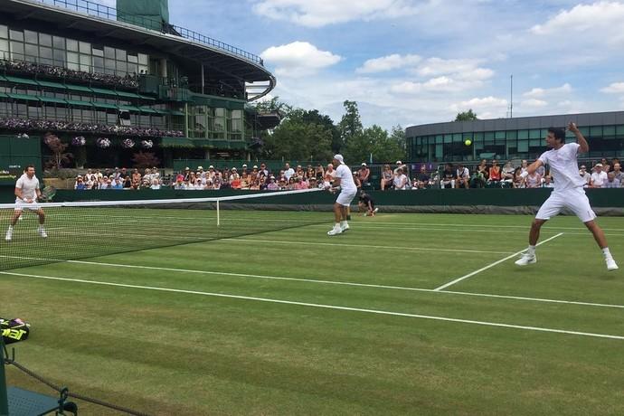 Marcelo Melo e Kubot em Wimbledon (Foto: Felipe Castanheira/Tennis InfoFelipe Castanheira/Tennis Info)