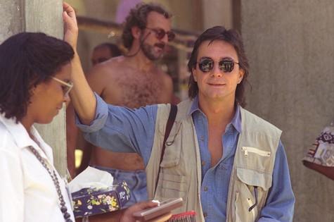 Fabio Junior como o fotógrafo Jorge Tadeu de 'Pedra sobre pedra' (Foto: TV Globo)