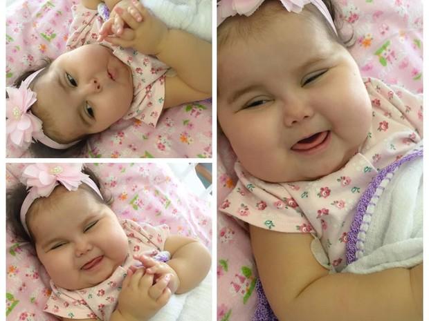 Sofia se recupera bem depois da cirugia no hospital Jackson Memorial, em Miami (Foto: Divulgação/ Campanha 'Ajude a Sofia´)
