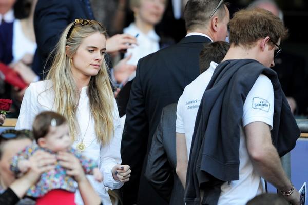 A atriz Cressida Bonas com o Príncipe Harry em foto de 2014 (Foto: Getty Images)