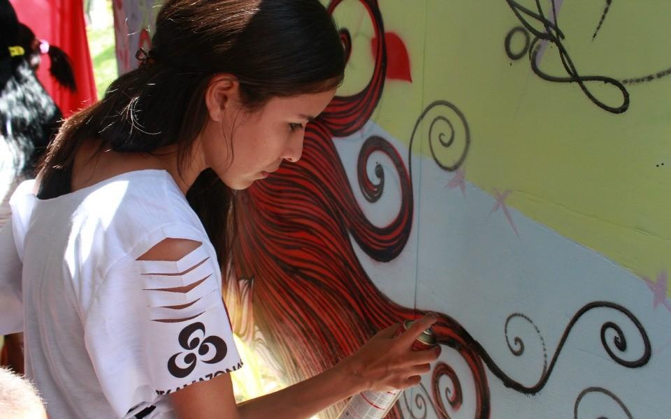 Arte de rua também será tema da nova novela das sete (Foto: Katiúscia Monteiro/Rede Amazônica)