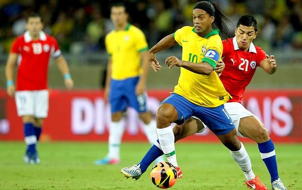 Ronaldinho jogo Brasil Chile Mineirão (Foto: Wagner Carmo / VIPCOMM)