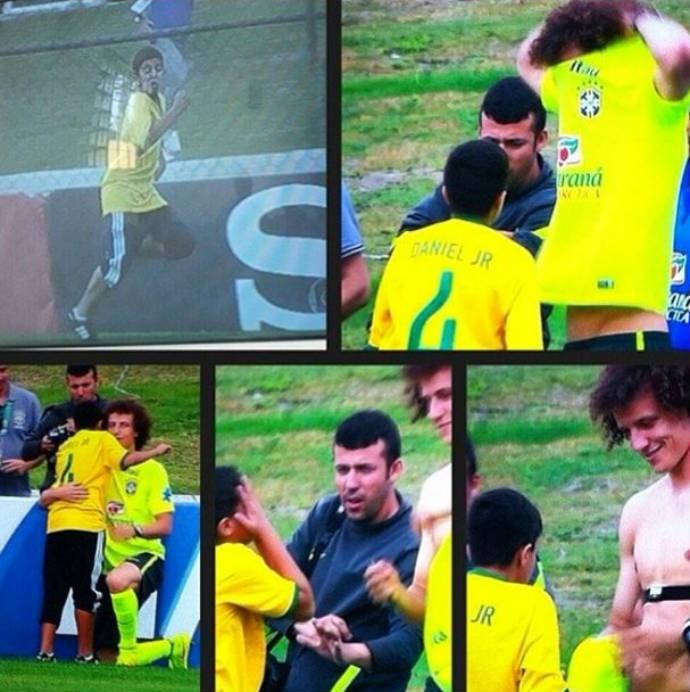 Mãe de David Luiz posta homenagem ao filho (Foto: Reprodução)