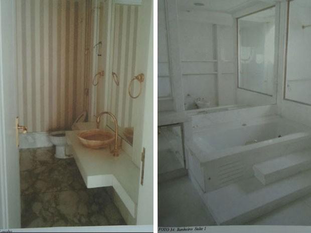 Lavado e um dos banheiros de algumas das suítes da mansão da família de Abdelmassih (Foto: Reprodução/ site Lut Leilões)