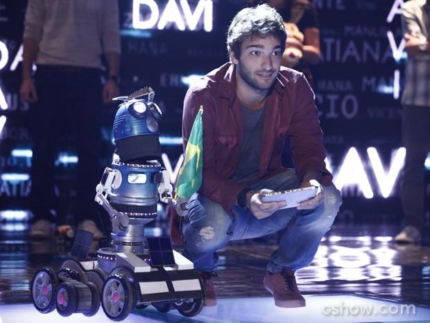 Davi apresentando seu projeto (Foto: Inácio Moraes / TV Globo)