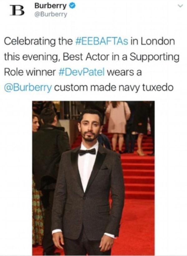 O ator Riz Ahmed é confundido com Dev Patel (Foto: Twitter)