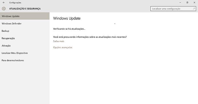 Windows 10 procurará por atualizações e começará a baixar o Anniversary Update quando disponível (Foto: Reprodução/Elson de Souza)