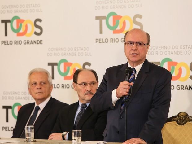 Cezar Schirmer fala como secretário de Segurança do RS após anúncio em Porto Alegre (Foto: Luiz Chaves/Palácio )