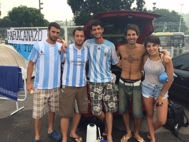 Estudantes argentinos aproveitaram as férias para acompanhar o Mundial (Foto: Janaína Carvalho / G1)
