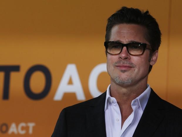 Brad Pitt em evento em Londres, na Inglaterra (Foto: Luke MacGregor/ Reuters)