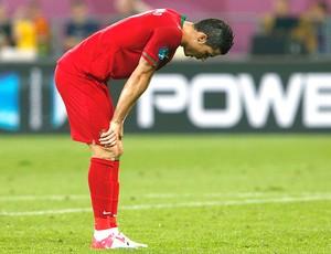 Cristiano Ronaldo na derrota de Portugal contra Alemanha (Foto: Reuters)