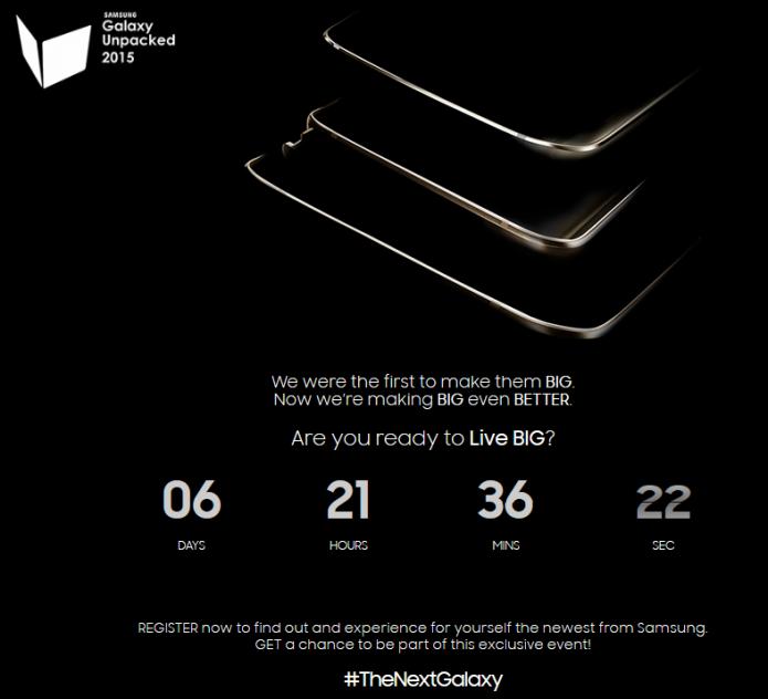Samsung iniciou a contagem regressiva para apresentação de Galaxy Note 5 e S6 Edge Plus (Foto:Divulgação/Samsung)