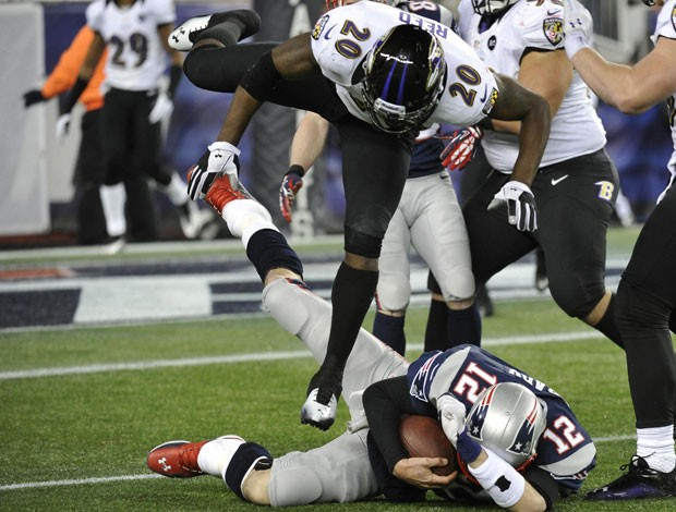 NFL Tom Brady e Ed Reed (Foto: Reuters)